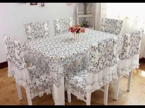 اشيك مفرش سفره مستطيل مفارش طاولات طعام مستطيله احدث اشكال طاولات طعام 2 Dining Table Cloth Dining Room Tablecloth Luxury Chair Covers
