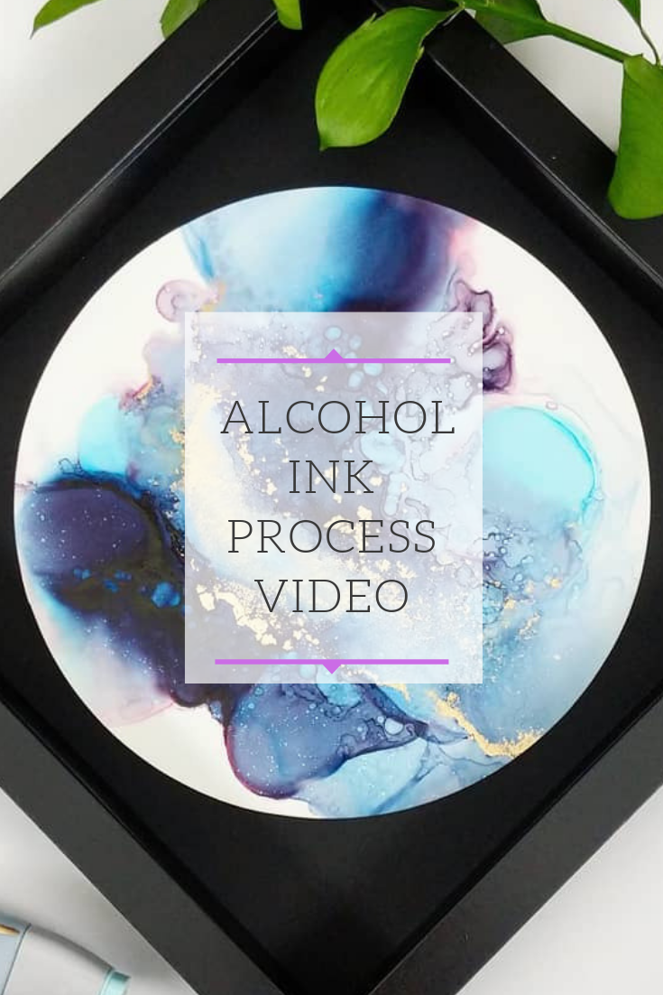 Alcohol Ink Art Creative Process Video, I Share my tips and techniques on Instagram! #alcoholinkcrafts