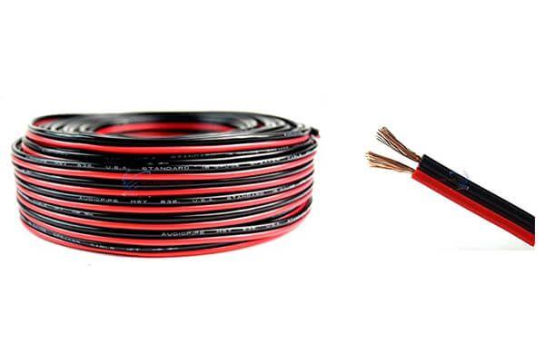 Audiopipe 100' Feet 18 GA Gauge Red Black 2 Conductor