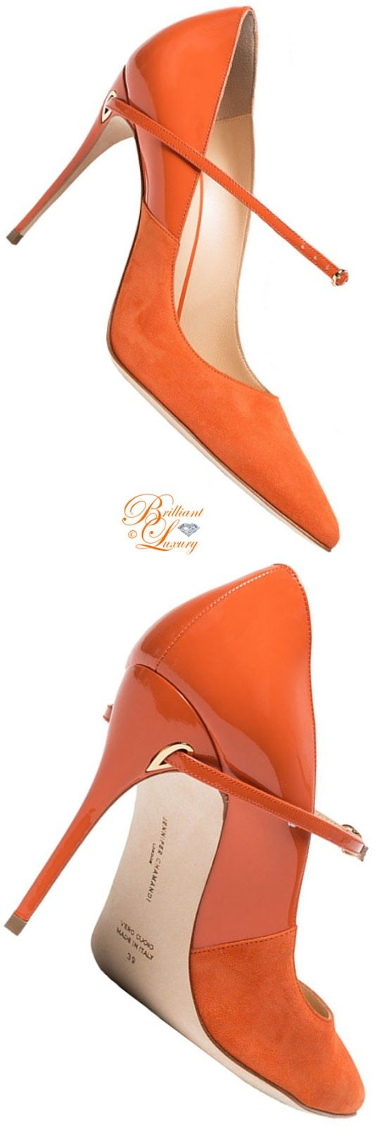 df845831d8a Jennifer Chamandi Lorenzo leather suede pumps  orange  pumps  highheels   stilettos