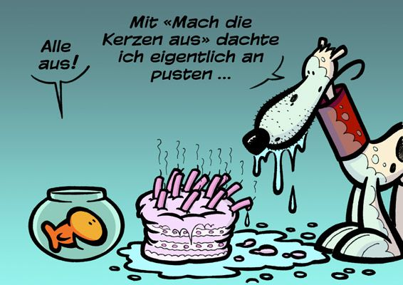 Fritz Fisch Hat Geburtstag Comics Kobikoeter Ch Comic