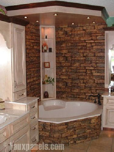 Rock Bathroom Idea Tub And Shower I Think This Is The One