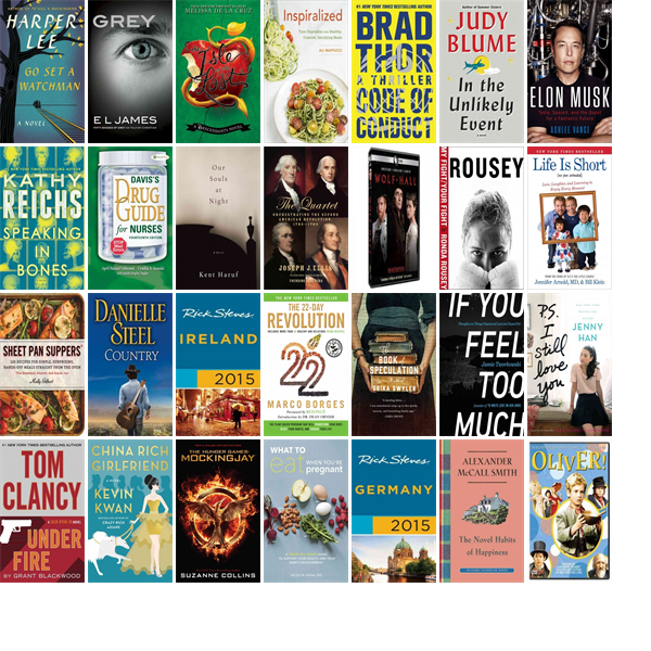 """Wednesday, July 22, 2015: The Sutton Free Public Library has 42 new bestsellers, 21 new videos, 40 new audiobooks, 61 new children's books, and 204 other new books.   The new titles this week include """"Go Set a Watchman: A Novel,"""" """"Grey: Fifty Shades of Grey as Told by Christian,"""" and """"The Isle of the Lost: A Descendants Novel."""""""
