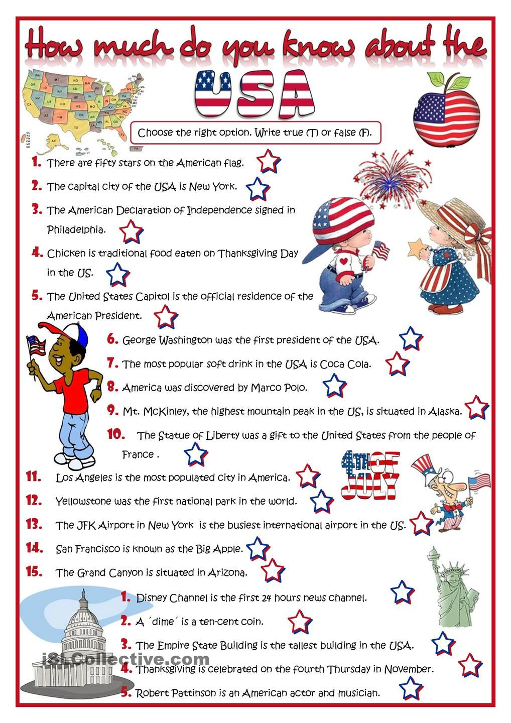 How Much Do You Know About The USA Quiz English Pinterest - States and capitals of the usa quiz