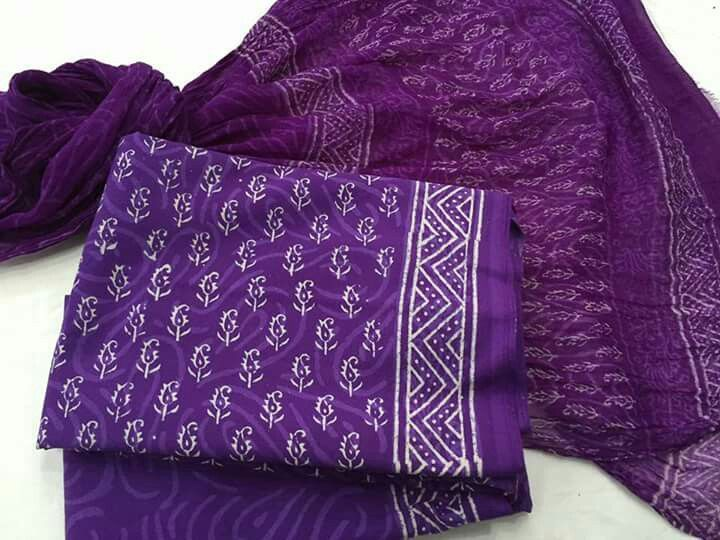 Chanderi dress amd chralla sarees