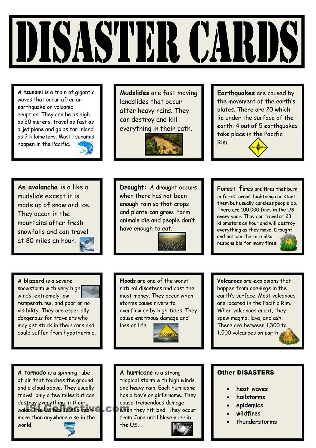 These vocabulary cards could be used in a center for a ...