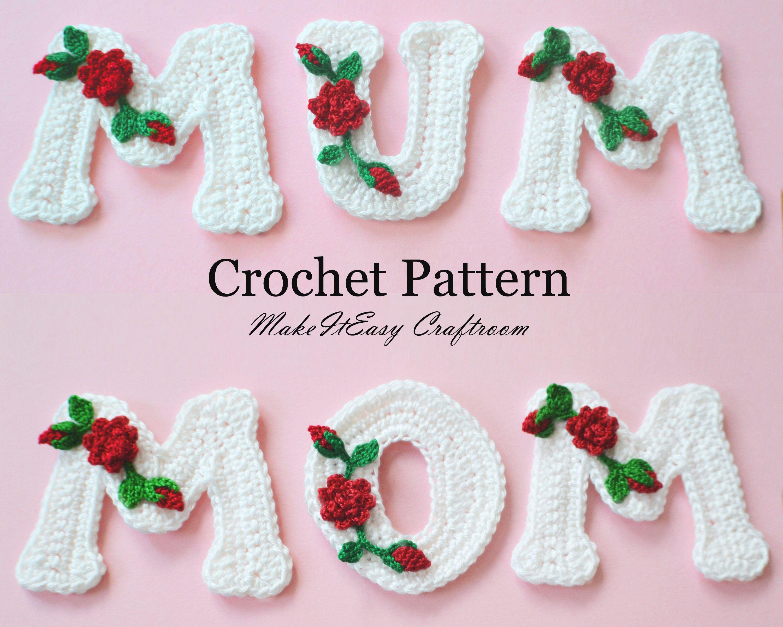Crochet letters pattern mothers day crochet personalised