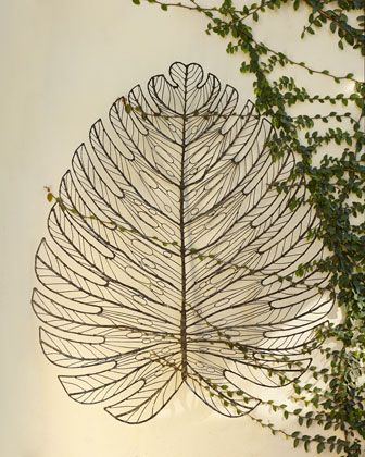 Captivating Giant Metal Leaf Wall Decor At Horchow.
