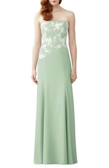 Dessy Collection Lace Appliqué Strapless Trumpet Gown available at #Nordstrom