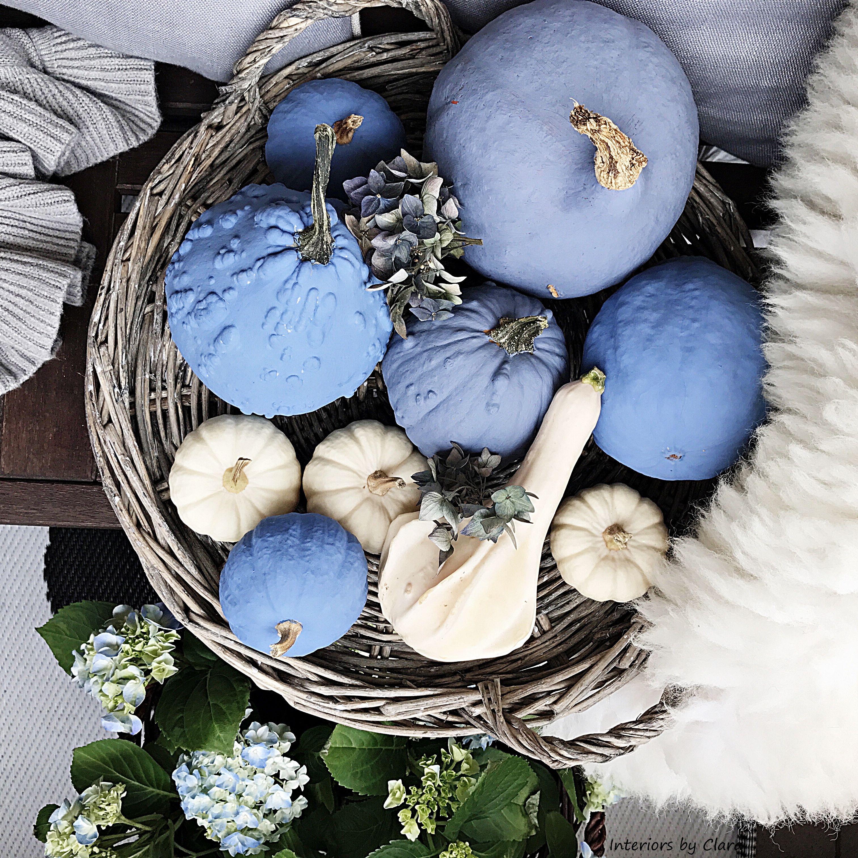 fall blue decorations jesienne dekoracje z dyni