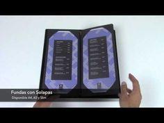 Portamenús cuero sintético | Porta Cartas de piel regenerada | Cartas menu para restaurantes