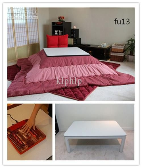 4pcs/set) Living Room Sets Kotatsu Table Futon Heater Japanese Foot ...