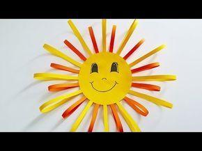 Basteln: Fensterbild Sonne / DIY / Deko selber machen / Basteln mit Kindern