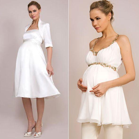 Vestido simples para casamento gestante