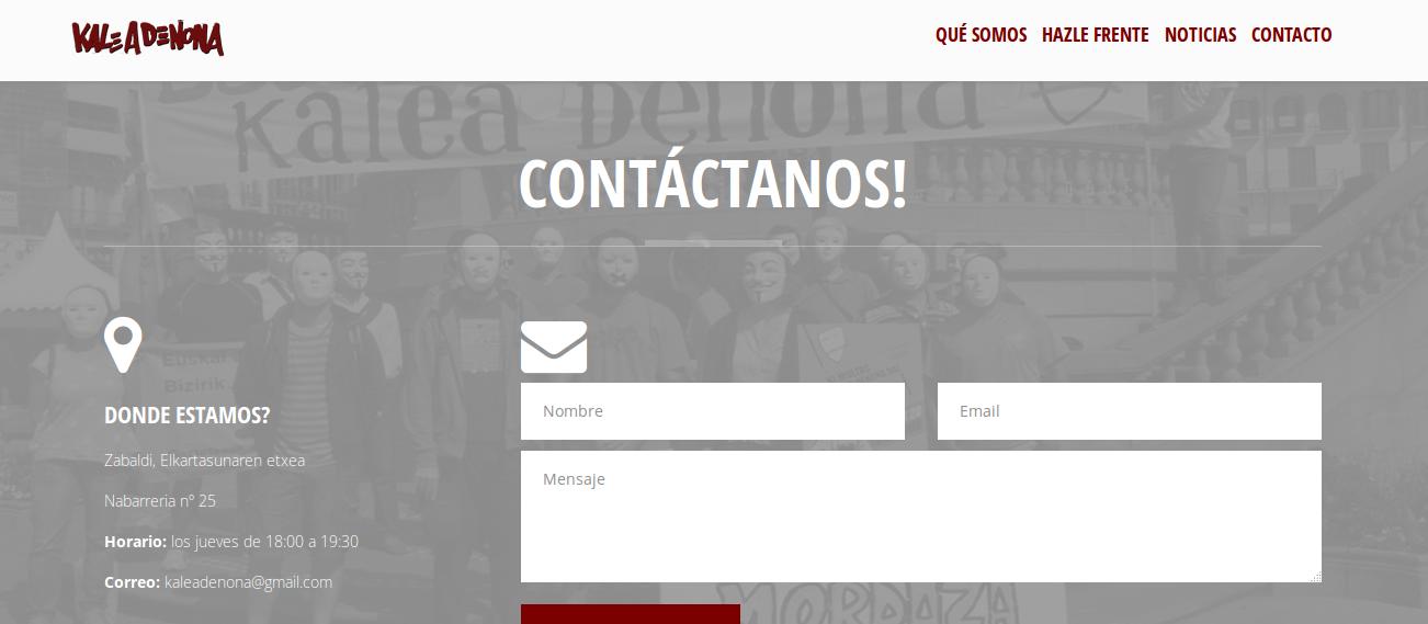 Página web Kaleadenona.info