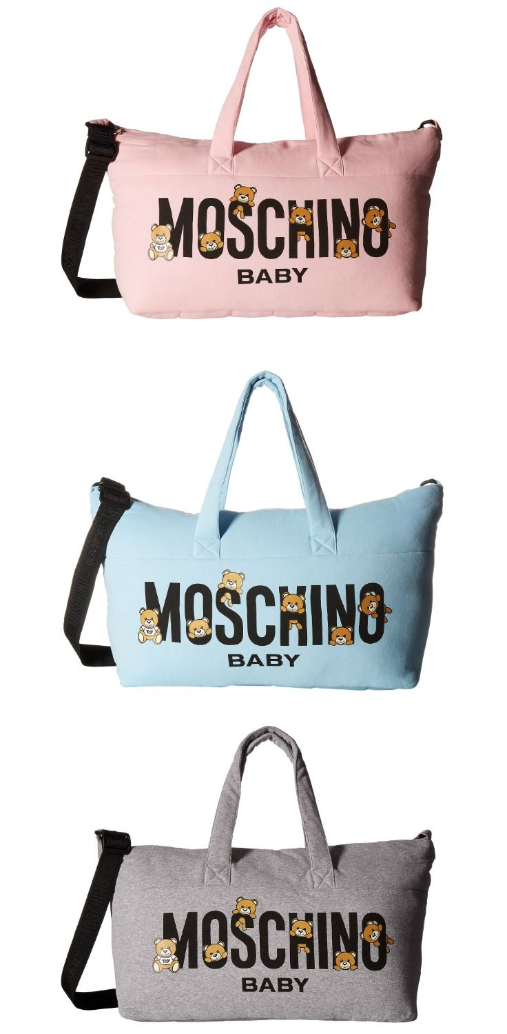 06f81106ed Carry yourself confidently and pamper your child with the creature comforts  of this #Moschino #Kids #Teddy #Bear #Logo #Diaper #Bag & #Changing #Mat. # bags ...