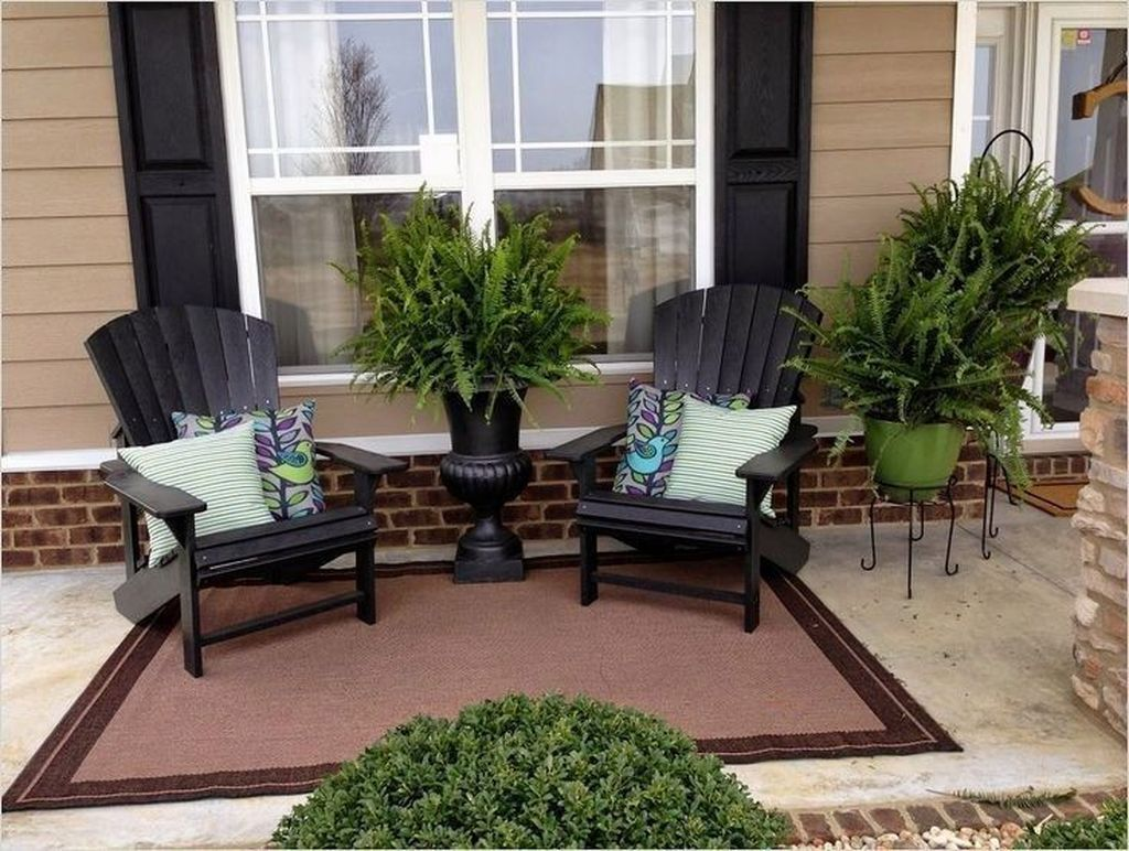 32 Popular Summer Furniture Ideas For Your Outdoor Decor Small Front Porches Decorating Ideas Apartment Patio Decor Outdoor Patio Designs