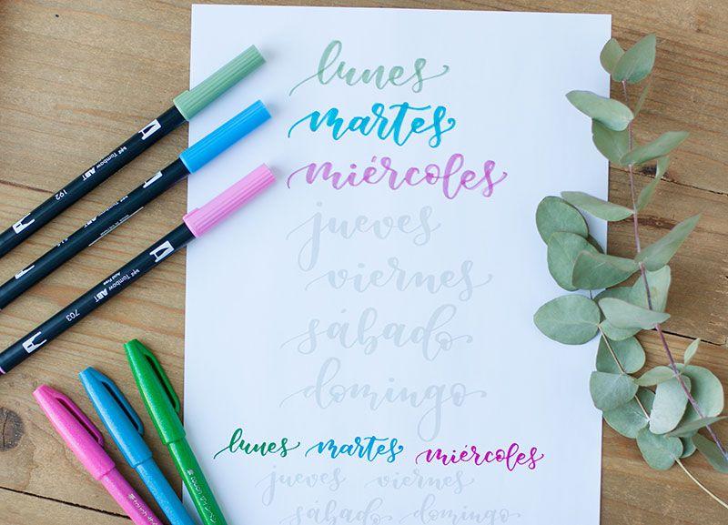Plantillas De Lettering Los Dias De La Semana Formas De Letras