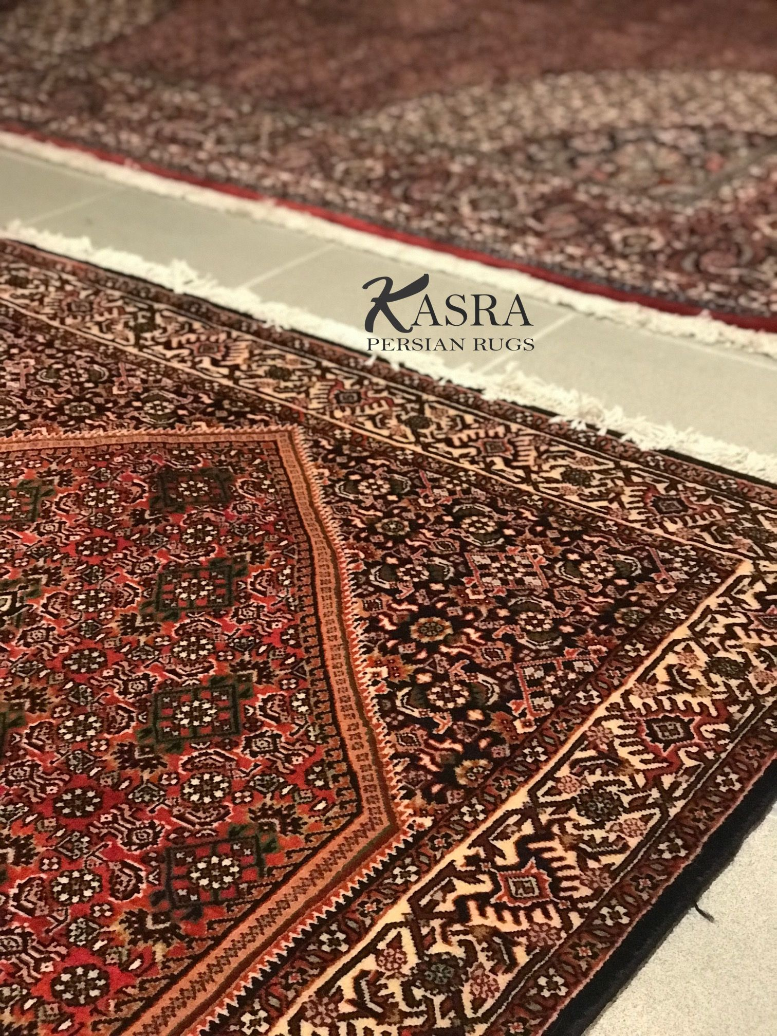 Side By Side Persian Bijar Area Rugs A Great Way To Warm Up The