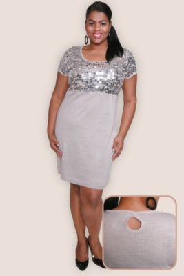 Plus Size Silver Anniversary Dresses