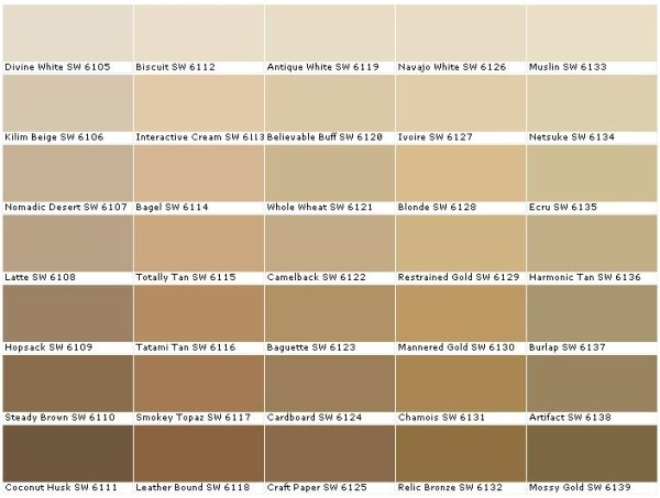 Greige Color Chart Grey Beige Cream Off White Pale Blue Brown By Tonya