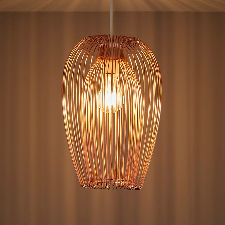 Jonas Copper Wire Light Shade D 220mm Diy At B Q Wire Pendant