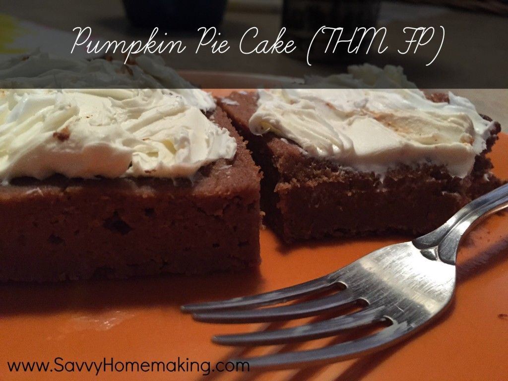 Here's a great pumpkin pie cake turned THM FP! Enjoy the healthy delights of the season. Stay warm =0)