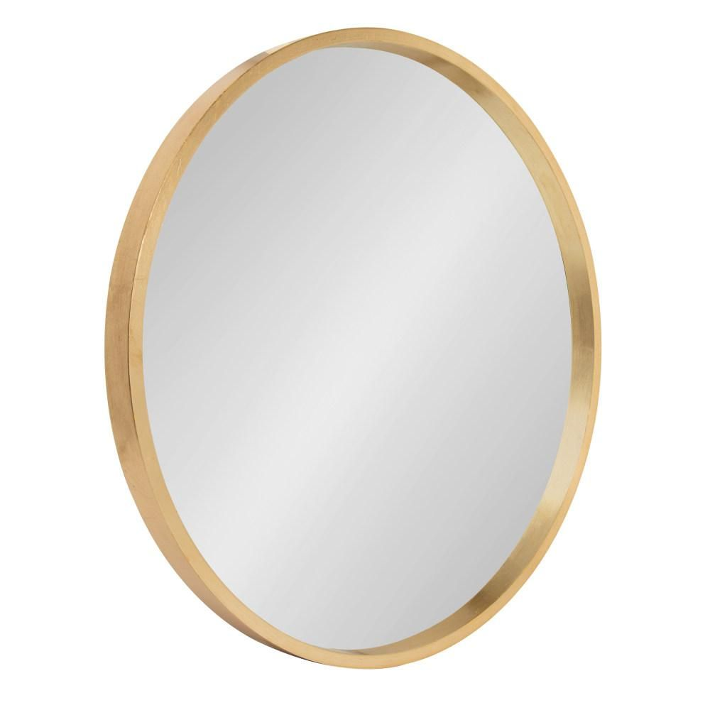 Kate And Laurel Travis Round Gold Wall Mirror 213124 With Images Gold Mirror Wall Mirror Wall Modern Mirror Wall