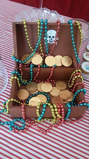 Un cofre lleno de deliciosos tesoros #monedasdechocolate