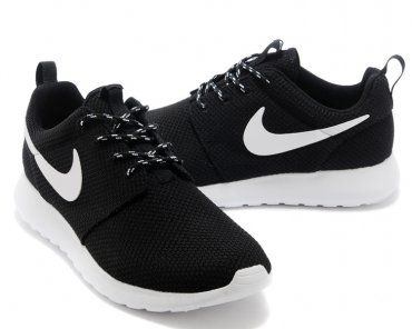 Nike Roshe Run Womens Black White Mesh shoes  7fa0662397