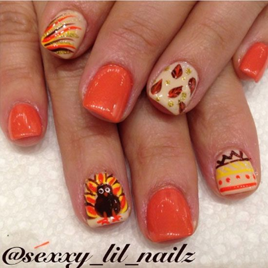 20 Beautiful Thanksgiving Nail Designs Ideas London Beep