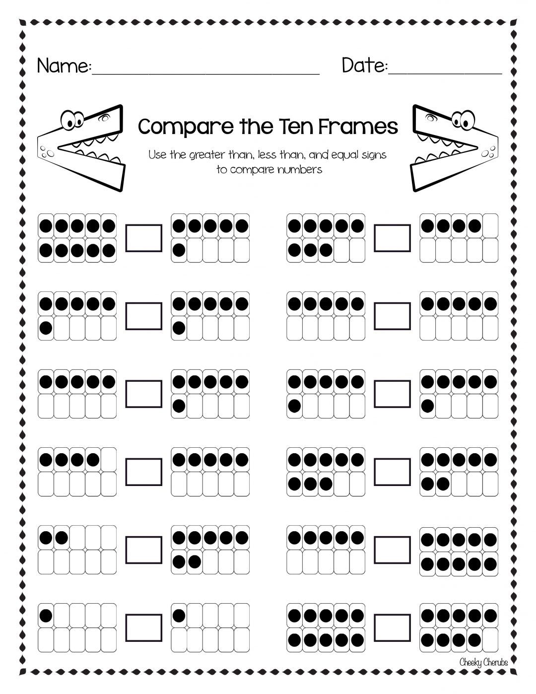 Amazing FREEBIES for Amazing TEACHERS - The CheekyCherubs   Numbers  kindergarten [ 1398 x 1080 Pixel ]