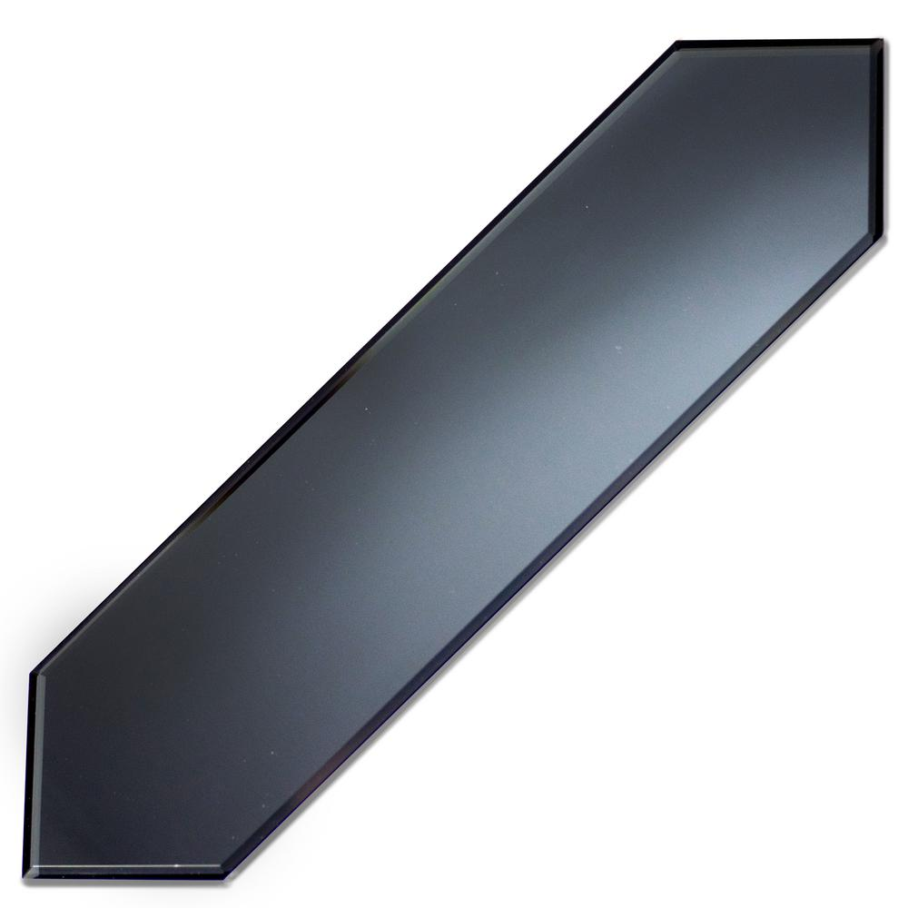 Abolos Reflections Graphite Blue Beveled Picket 3 In X 12