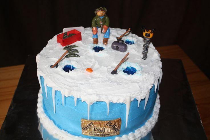 ice fishing cake ideas IceFishing Cake Fishing Hunting cake