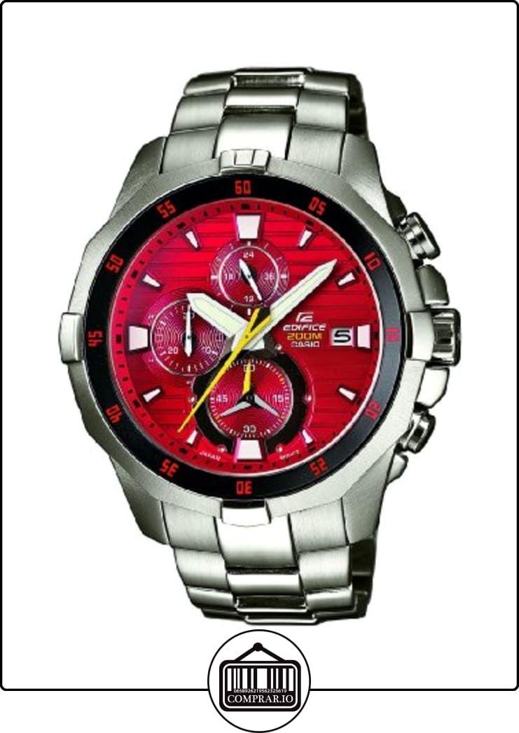 31cf5fcf7deb Casio EFM-502D-4AVUEF - Reloj analógico de cuarzo para hombre con correa de  acero inoxidable