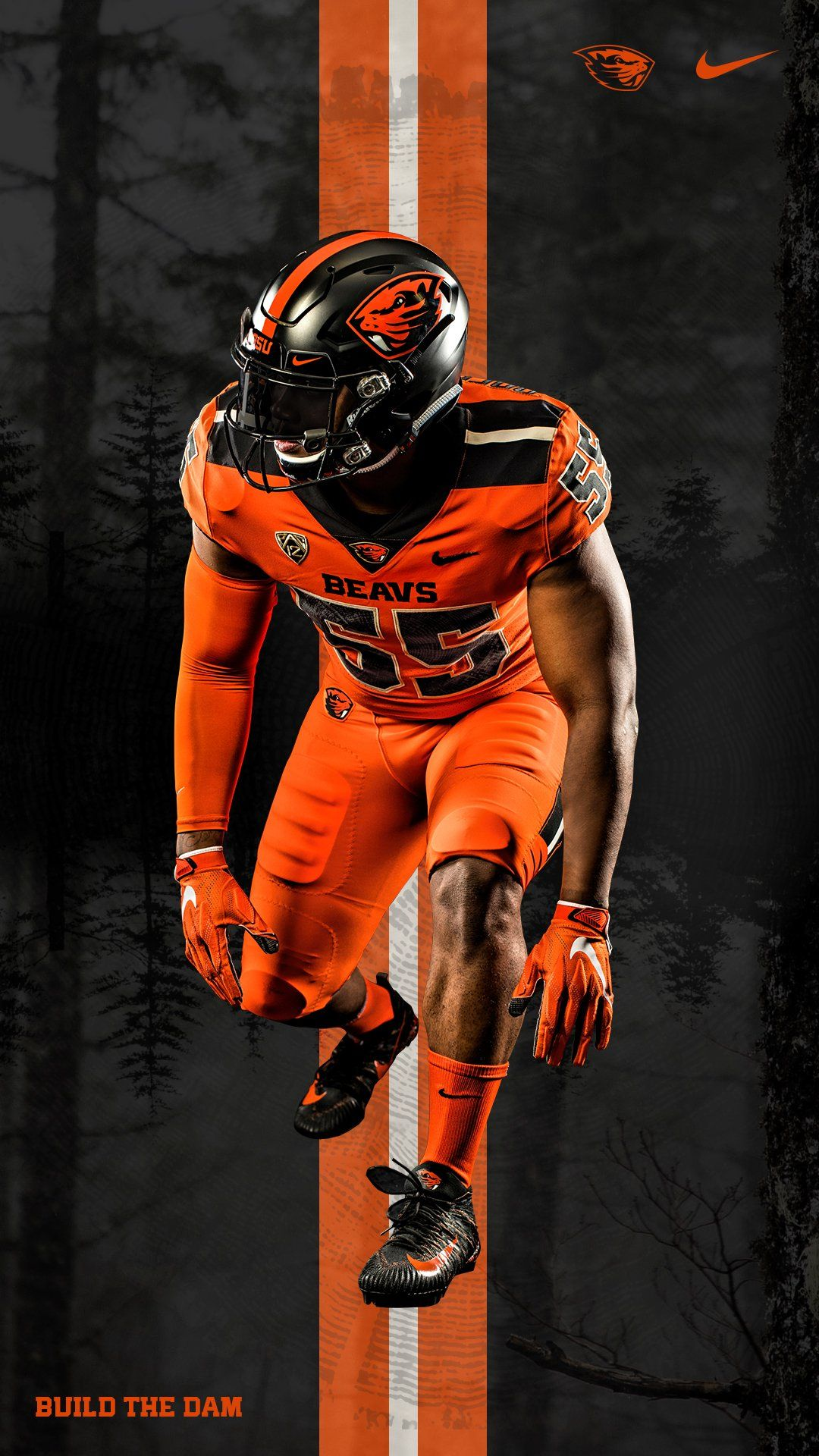 2019 Oregon State University Beavers Football Uniforms Orange On Orange Football Uniforms College Football Uniforms Football Poster