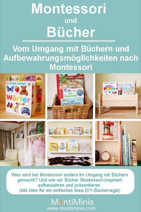 Montessori und Bücher - vom Umgang mit Büchern und Aufbewahrungsideen #montessoriselbstgemacht