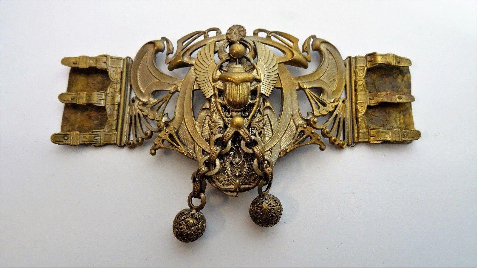 afa3a7efdf3f Travail Art Nouveau - Parure ancienne Boucle de ceinture attache cape   eBay