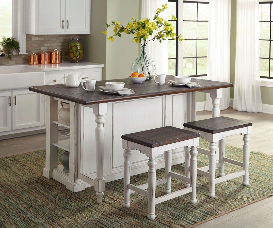 Bourbon County Kitchen Island Set French Country Country