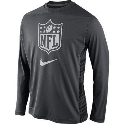 73e46ead Nike 2014 NFL Shield Speed Performance Long Sleeve T-Shirt - Gray ...