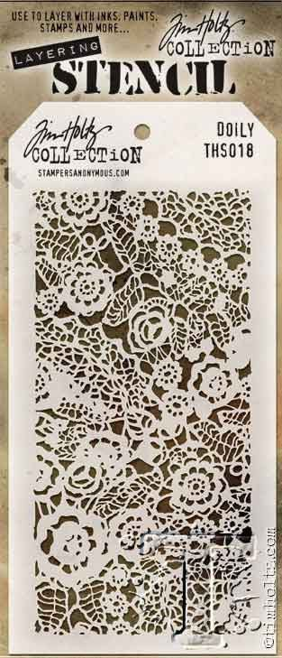 Doily Stampers Anonymous Tim Holtz Layered Stencil 4.125-inch By 8.5-inch