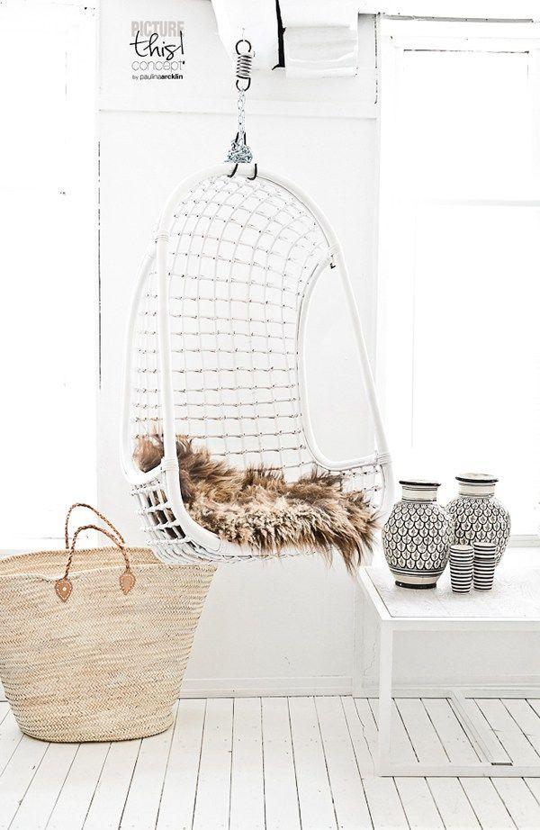 Hanging chair love    Sillas colgantes dentro de casa    casahaus