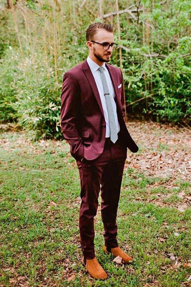 24 Men's Wedding Attire For Beach Celebration Maroon