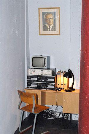Die Stasi-Ecke.  The Stasi corner.  Peeping the people's lives