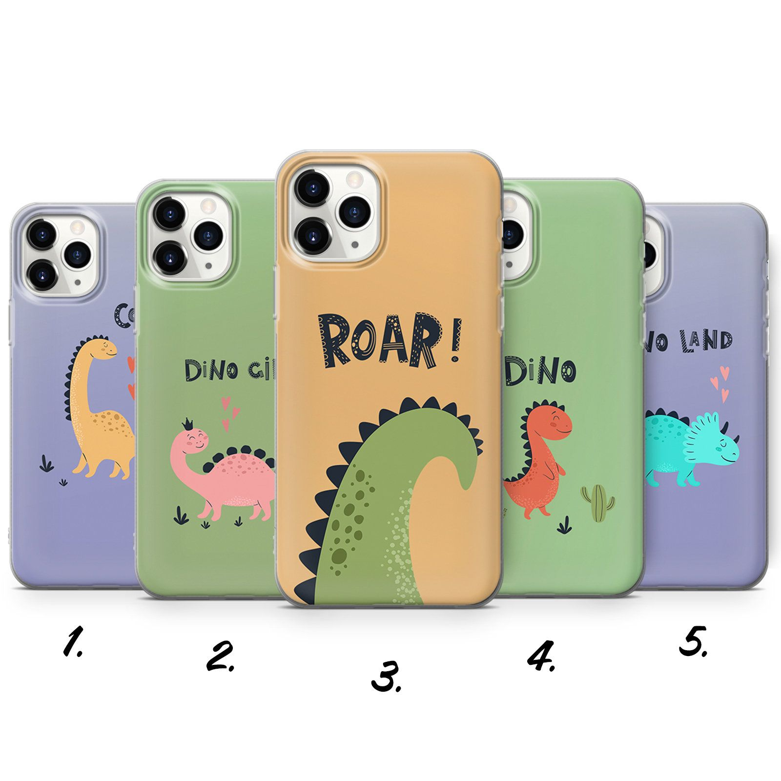 Dino Phone Case Cute Dinosaur Cover For Iphone 7 8 Xs Xr Etsy In 2021 Phone Cases Cute Dinosaur Case