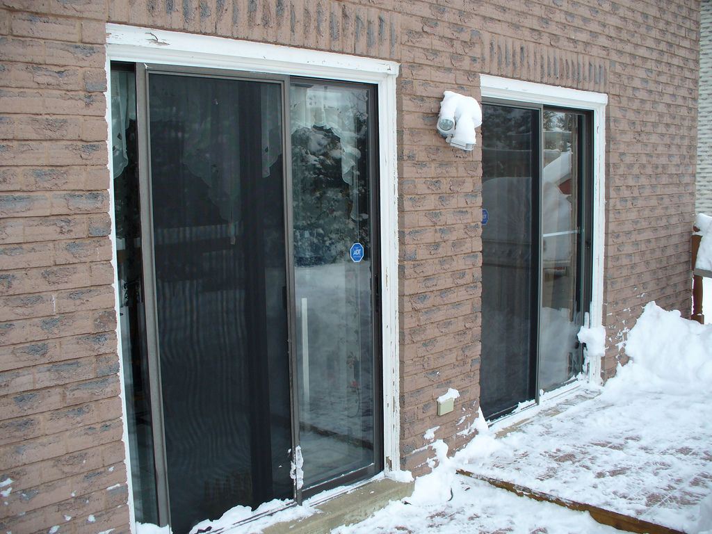 Unencumbered By Winter Weather This Patio Door Replacement Project