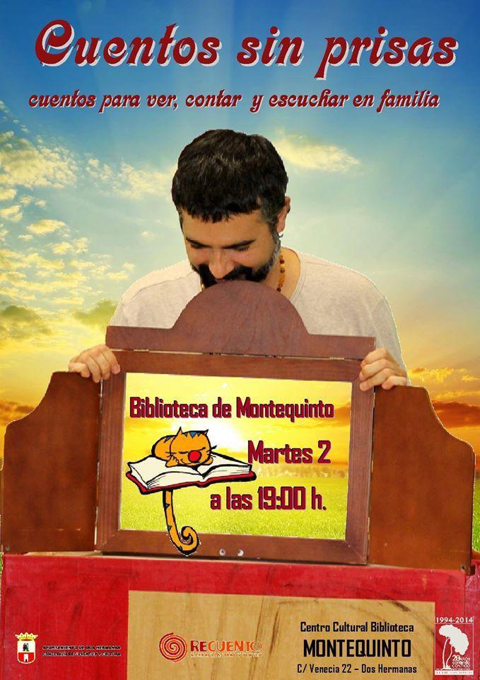 Martes 2 de diciembre, LAS BIBLIOTECAS CUENTAN 'Cuentos sin prisas', cuentos para ver, contar y escuchar en familia con Recuento Narradores. https://www.facebook.com/events/1546742398898143/
