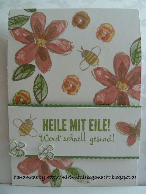 Genesungskarte mit Garden in Bloom und Fantastische Vier Stampin Up