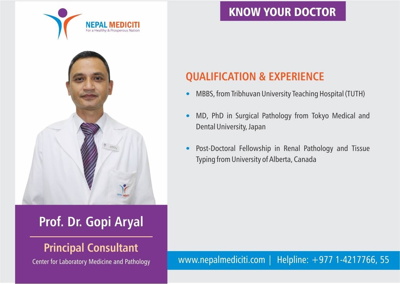 KnowYourDoctor: Read more about Prof Dr  Gopi Aryal, a highly