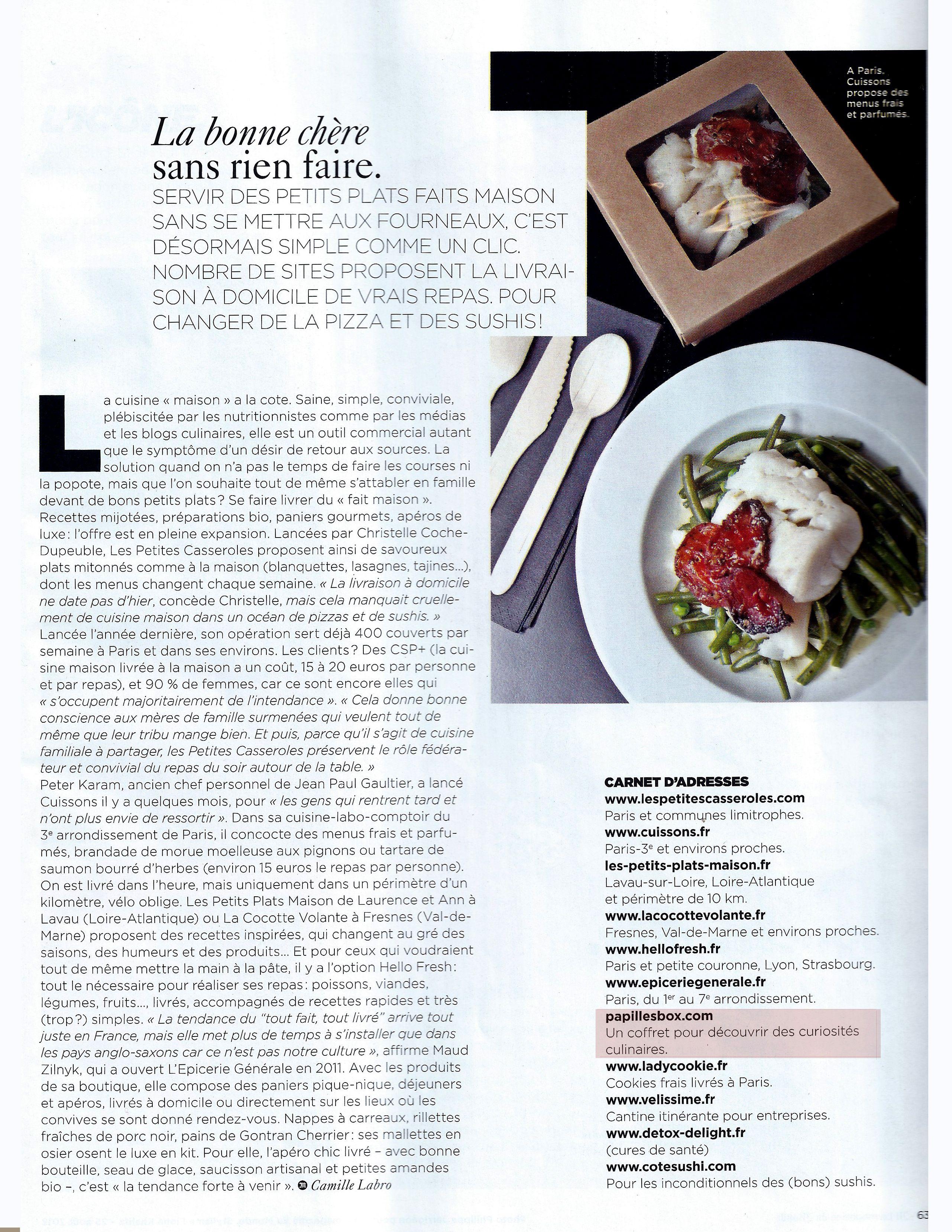 Dans Le Monde Magazine!